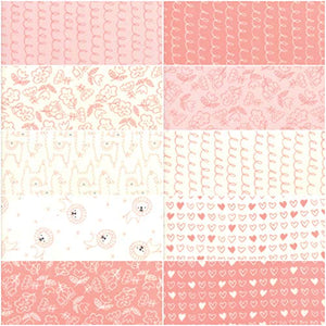 Soft Sweet Flannel Pink Junior Layer Cake, 20-10