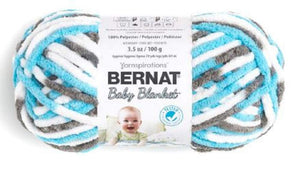 Bernat Baby Blanket Yarn, 3.5 Oz, Gauge 6 Super Bulky, Sail Away 3-Pack
