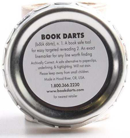 Image of Book Darts 125 Count Tin Bronze Bookmarks - Line Book Markers