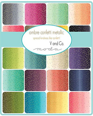 V and Co Ombre Confetti Metallic 20 Half-Yards Moda Fabrics 10807HYM