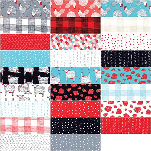 "Farm Fresh Layer Cake, 42-10"" Precut Fabric Quilt Squares by Gingiber"
