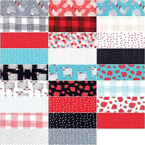 "Image of Farm Fresh Layer Cake, 42-10"" Precut Fabric Quilt Squares by Gingiber"