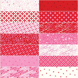 MODA Love Grows Charm Pack by Deb Strain; 42-5 Inch Precut Fabric Quilt Squares, Assorted