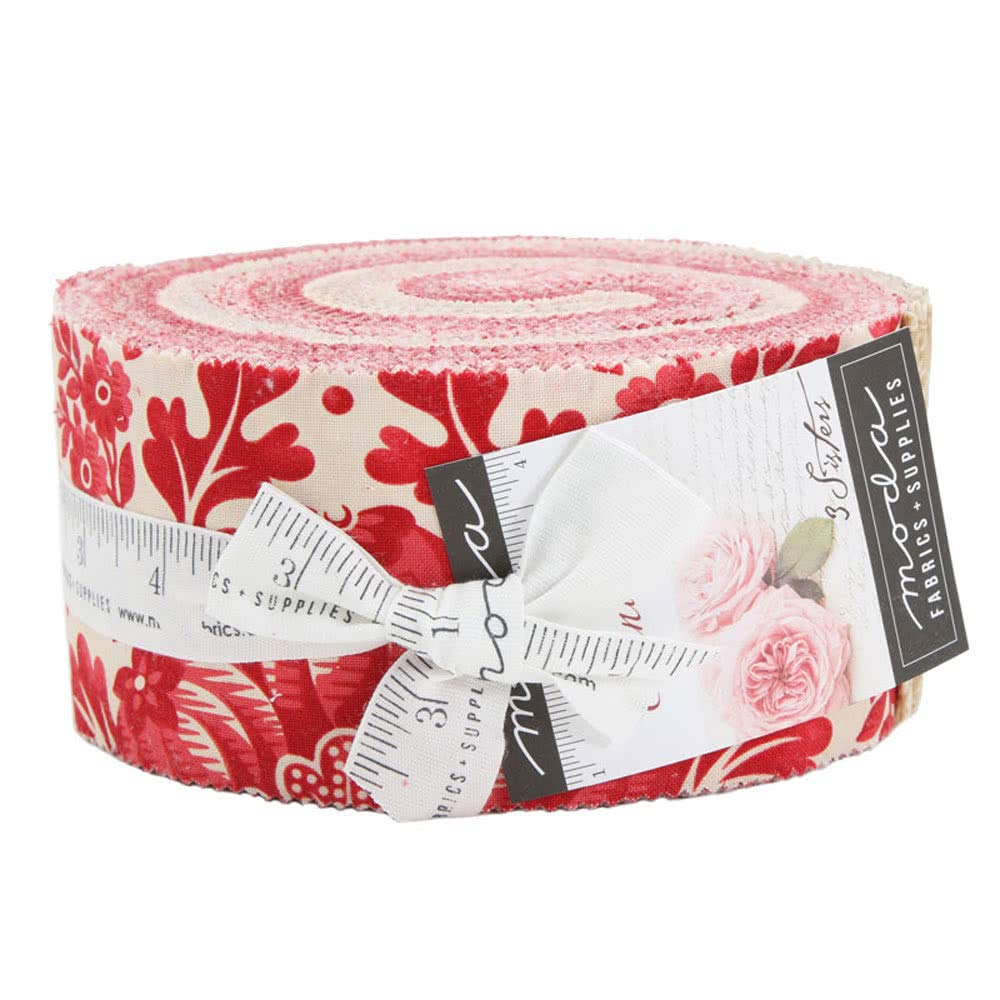 Cinnaberry Jelly Roll 40 2.5-inch Strips by 3 Sisters for Moda Fabrics