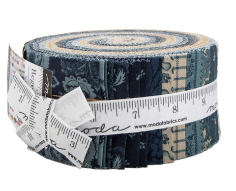 Image of Regency Sussex Jelly Roll 40 2.5-inch Strips by Christopher Wilson-Tate for Moda Fabrics