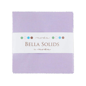 "Bella Solids Lilac Moda Charm Pack By Moda Fabrics; 42-5"" Quilt Squares"