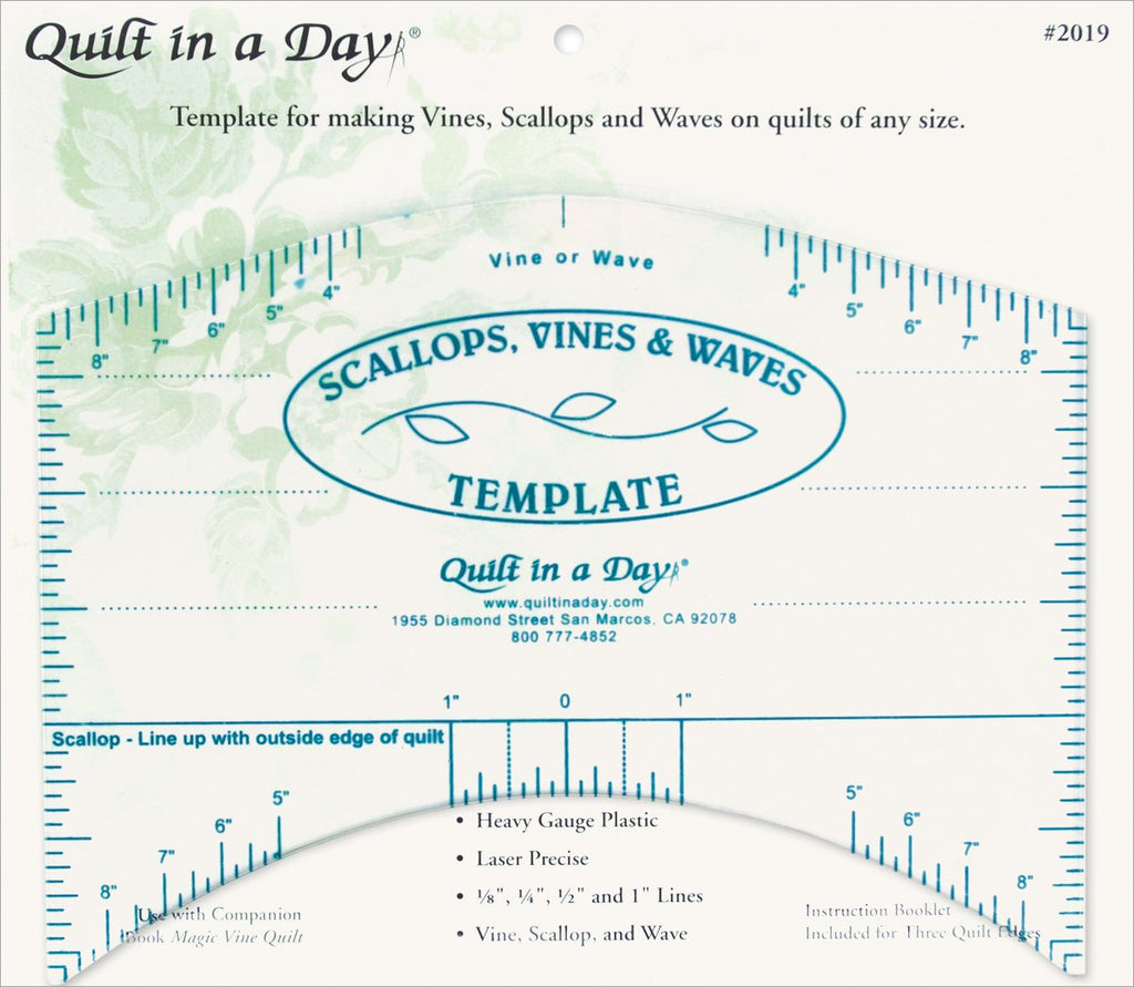 Quilt in a Day Scallops, Vines and Waves Template