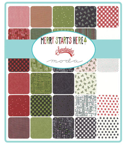 Merry Starts Here Layer Cake 42 10-inch Fabric Squares by Sweetwater for Moda Fabrics