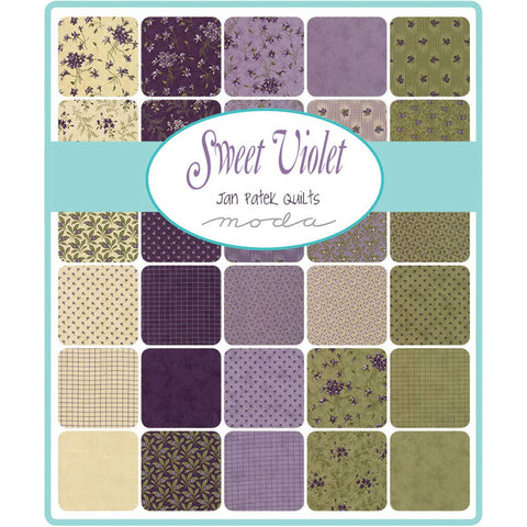 Image of Sweet Violet Layer Cake, 42-10 inch Precut Fabric Quilt Squares by Jan Patek