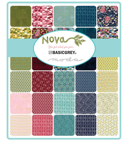 Image of Nova Jelly Roll 40 2.5-inch Strips by BasicGrey for Moda Fabrics