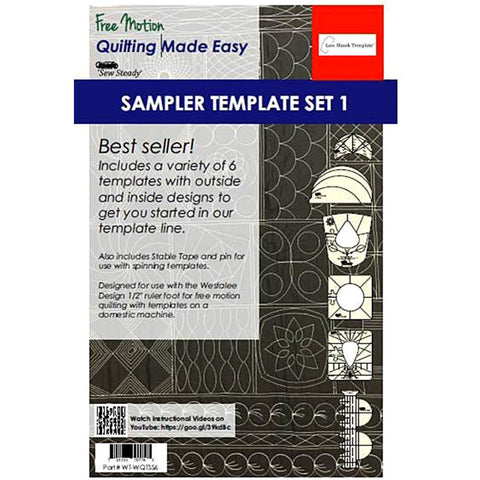 Image of Sew Steady Quilting Template 6 Piece Template Set