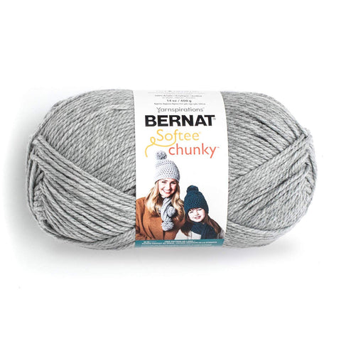 Bernat Big Ball Chunky Solid Yarn, 14 oz, Gauge 6 Super Bulky, 100% Acrylic, Natural