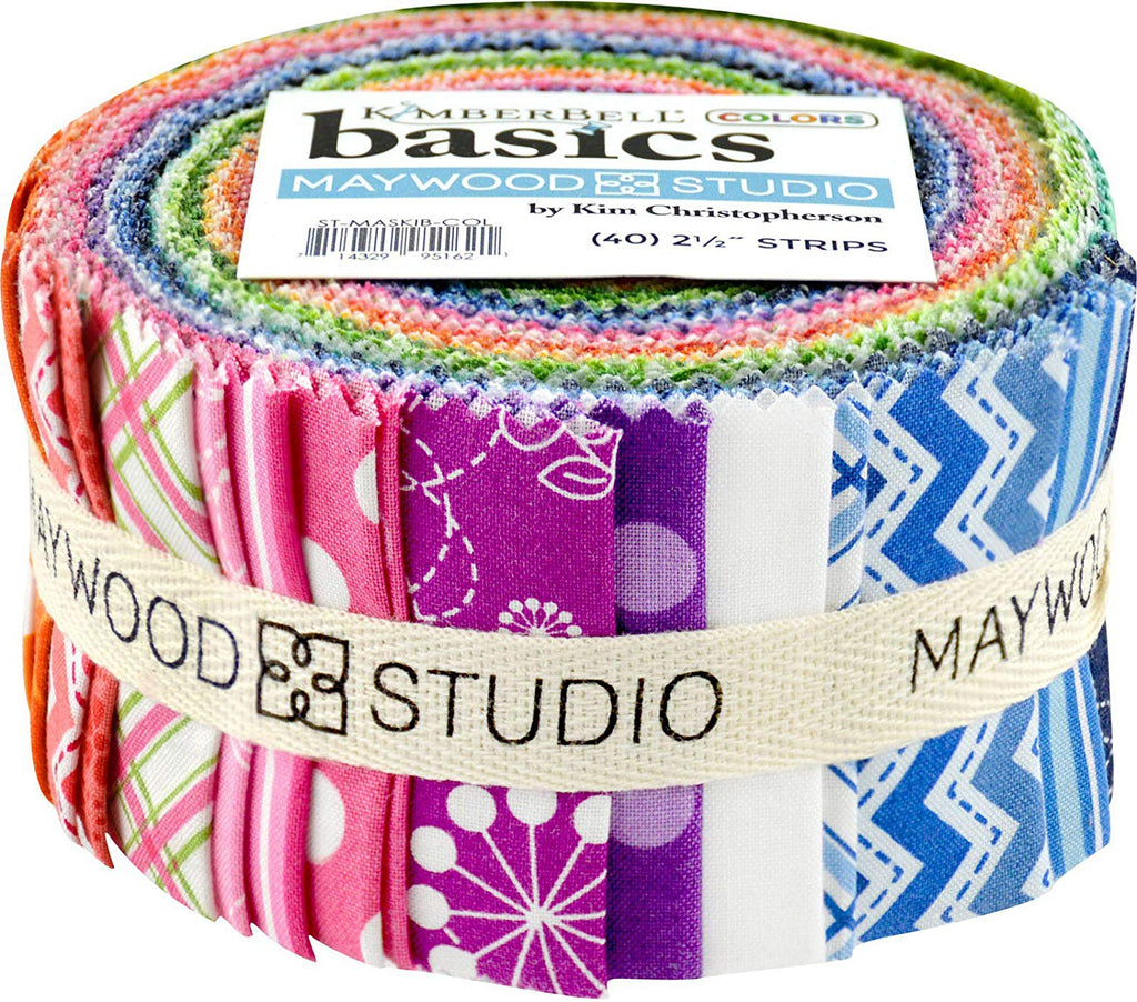 KimberBell Basics Colors Strips 40 2.5-inch Strips Jelly Roll Maywood Studio