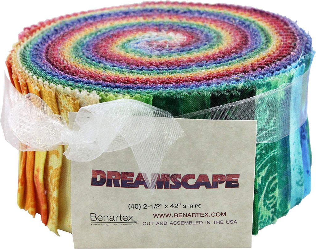 Benartex DREAMSCAPE Pinwheel 2.5-inch Quilting Strips Jelly Roll Fabric