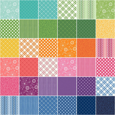Image of KimberBell Basics Colors Strips 40 2.5-inch Strips Jelly Roll Maywood Studio