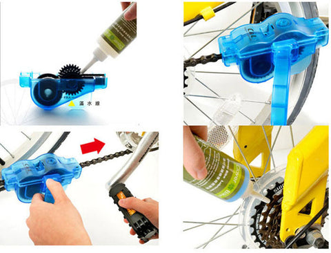 Image of Bicycle Chain Cleaner + 6 Brushes