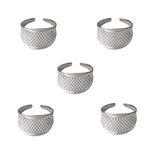 5/10Pcs Sewing Thimbles Adjustable Size Ring Thimble