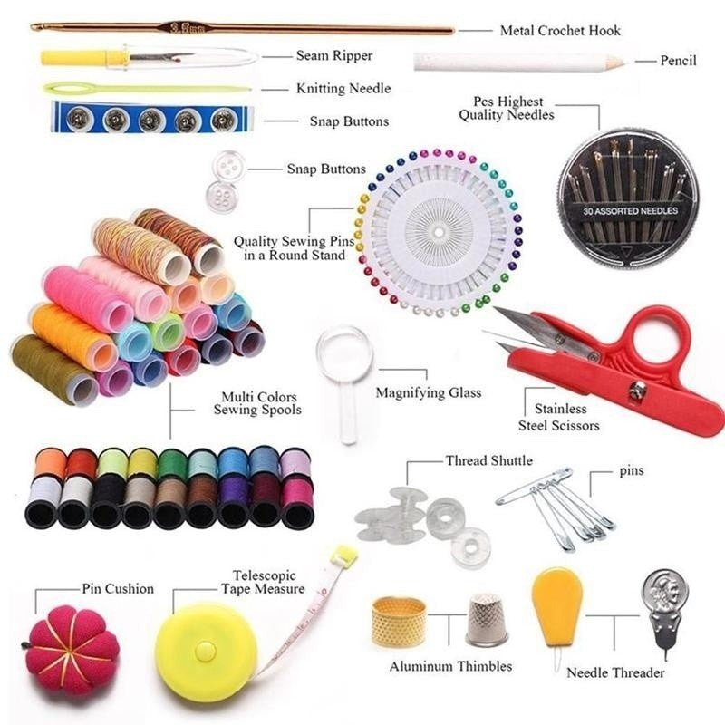 Sewing Kit 138 Pieces for Premium Sewing Supplies