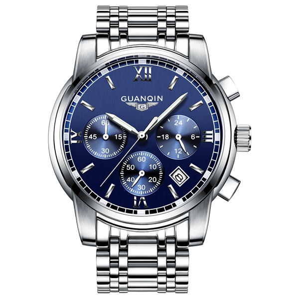 Luxury GUANQIN Men's Fashion Chronograph Wristwatch