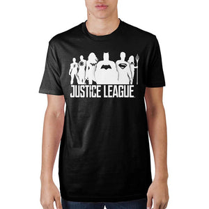 Justice League Black Soft Official T-Shirt - Buy4Him4Her