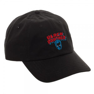 Black Panther Logo Embroidered Dad Hat