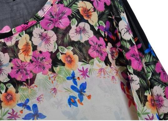Bohemian Floral Chiffon Shirt Blouse Loose - Buy4Him4Her