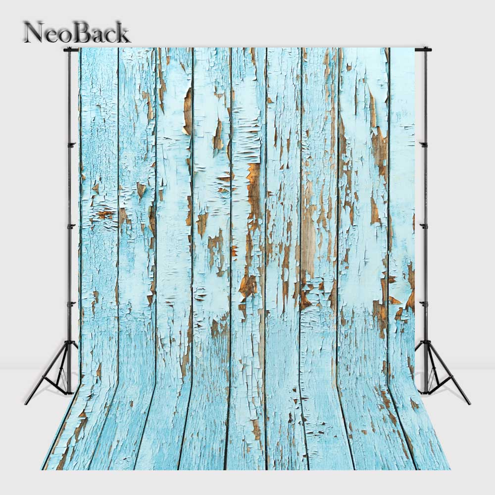 Photography Background Wood Floor Vinyl Studio Photo Backdrops 3x5ft 5x7ft blue tone - Buy4Him4Her