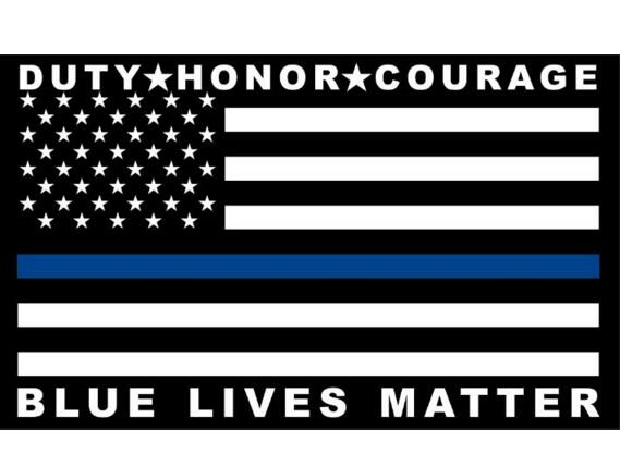 Blue Lives Matter Flag  3ft x 5ft - Buy4Him4Her