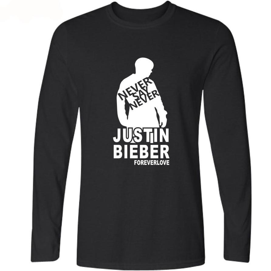 Justin Bieber T-shirts Soft Cotton Tees - Long Sleeved - Buy4Him4Her