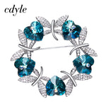 Blue or Purple Swarovski Butterfly Brooche