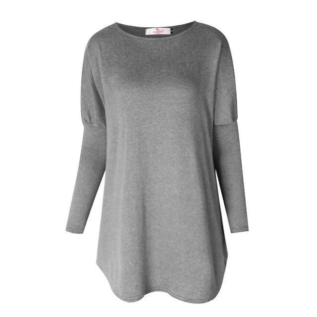 Casual Women Loose Tunic - long sleeves - Buy4Him4Her