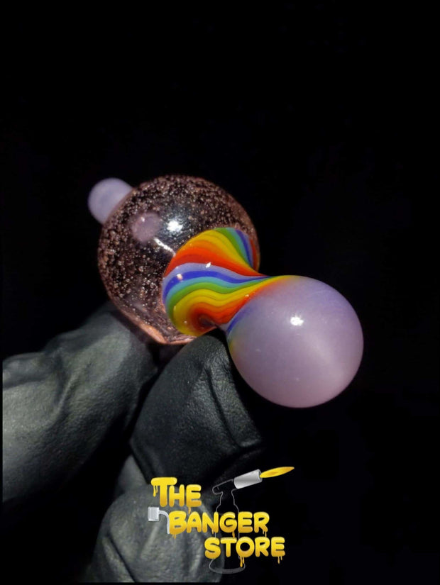 25mm Bubble Cap  - MessyGlass - The Banger Store