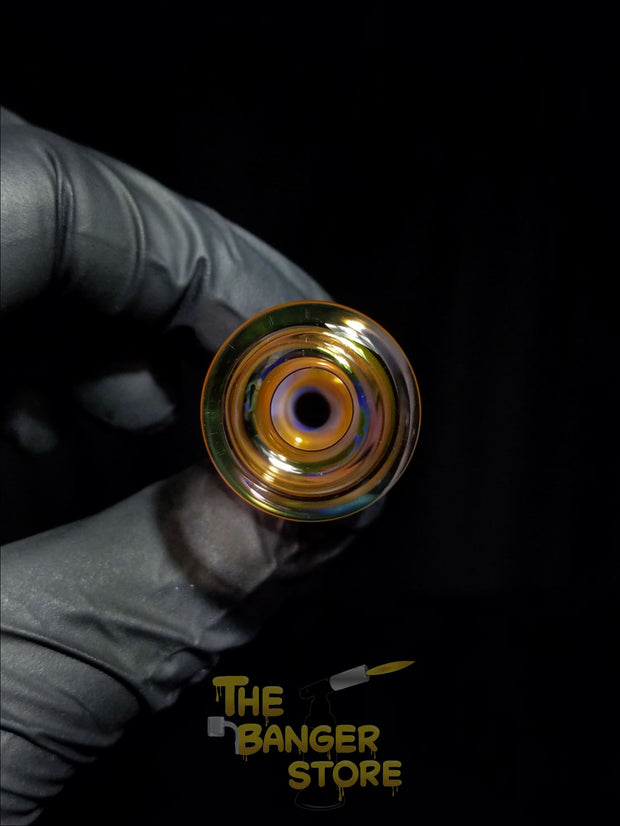 25mm Fumed Bubble Cap - JFK_Glass - The Banger Store