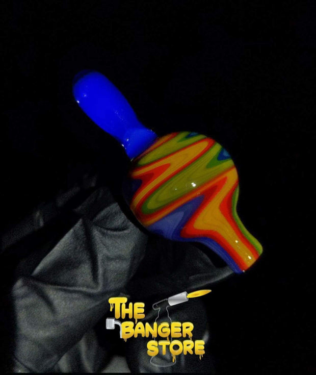 25mm Linework Wig Wag Bubble Cap - K2GlassArt - The Banger Store
