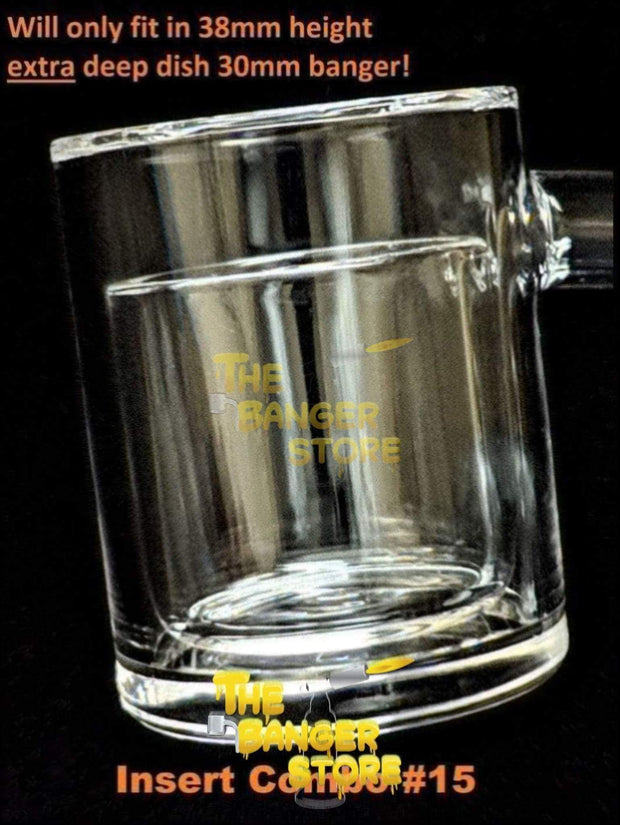 Beveled Edge - Tall XXL 30mmx38mm - Thick Bottom Flat Top Quartz Banger - The Banger Store