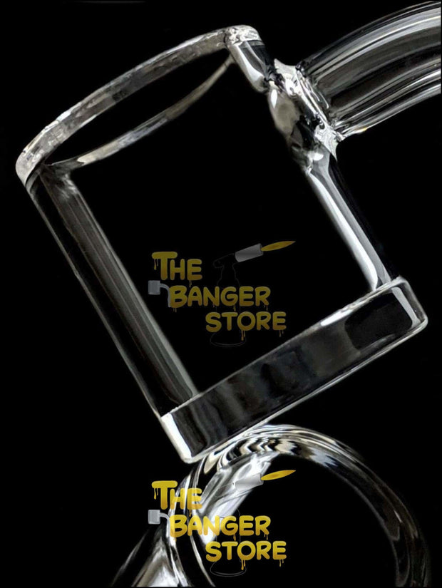 Beveled Edge - XL 25mm Short Bucket Thick Bottom Flat Top Quartz Banger - The Banger Store