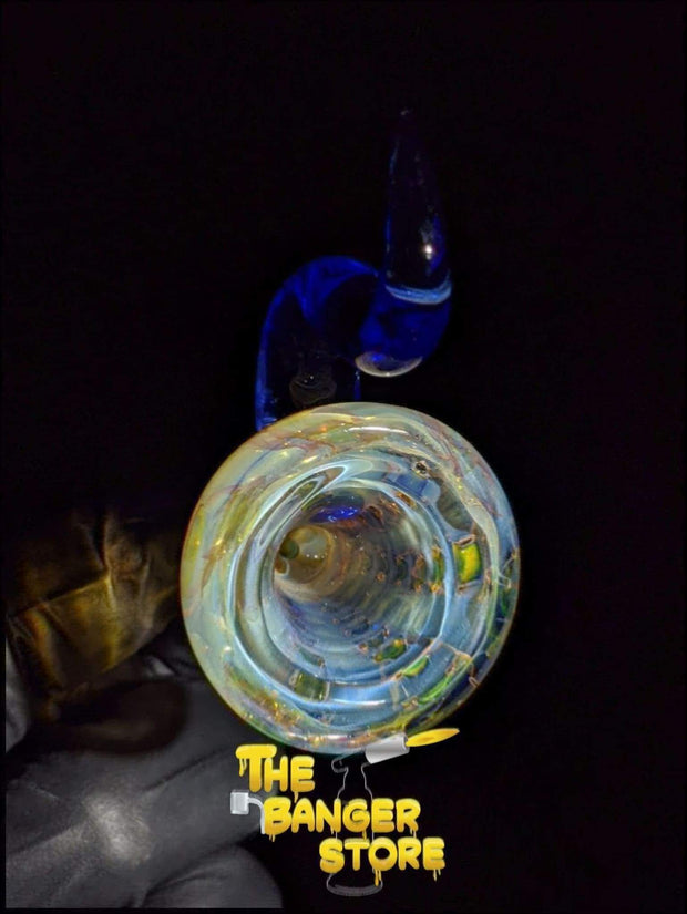 Blue Dream Fumed Horn Bowl Piece  - Strawberry Glass - The Banger Store