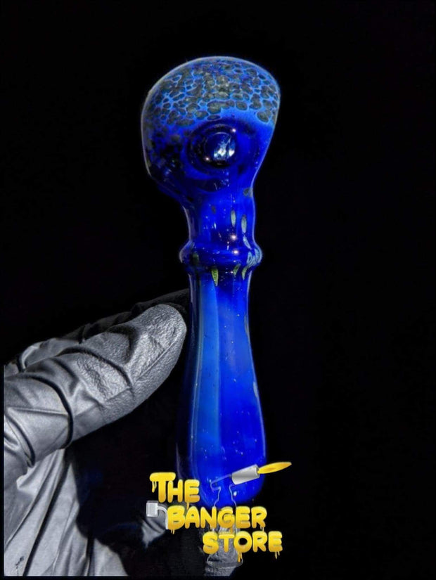 Blue Neptune Themed Glass Pipe - The Banger Store
