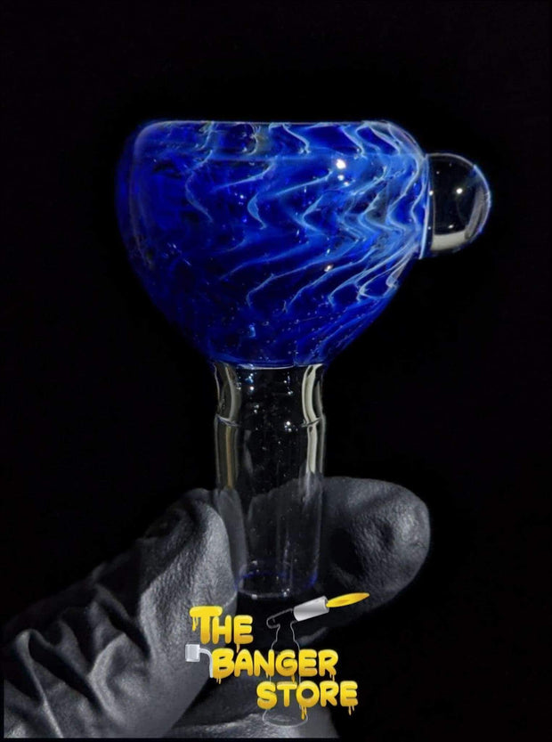 Blue & White Spiral Bowl Piece  - Crondo619 - The Banger Store