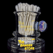 Clear Q-Tip Holder with Borosilicate Chaos Implosion - BeerGlass - The Banger Store