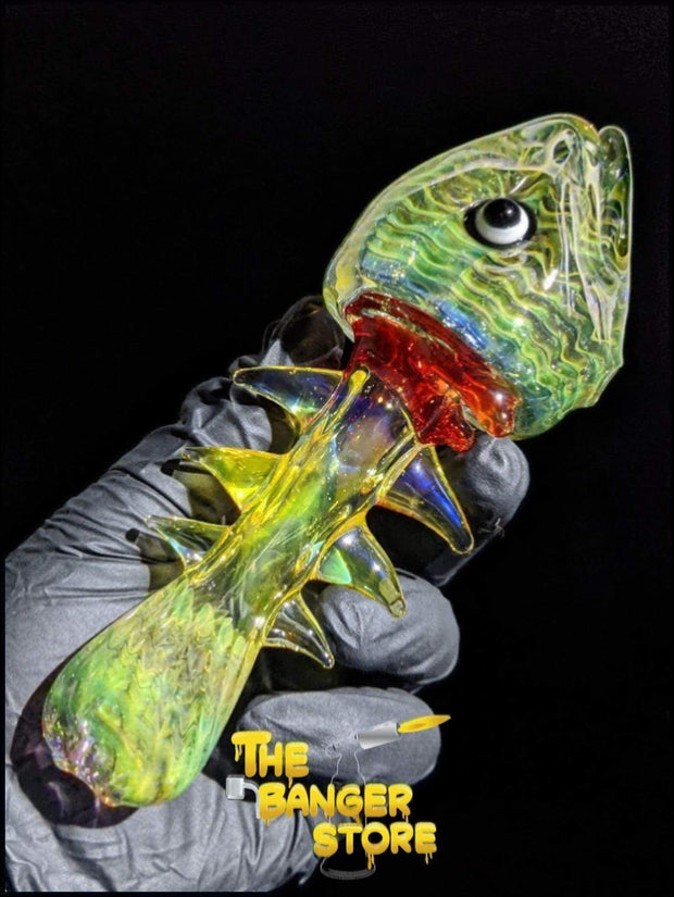 Dead Fish Fumed Glass Pipe - The Banger Store