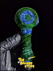 Experimental Green and Blue Glass Frit Pipe - The Banger Store