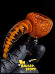Frit Stack Spiral Horn Bowl Piece  - Crondo619 - The Banger Store