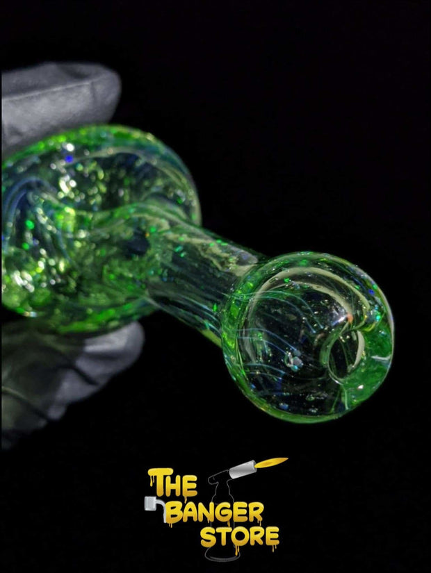 Fumed Crushed Opal Glass Pipe - The Banger Store