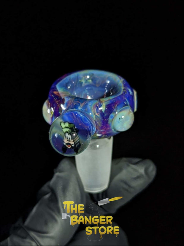 """Goofy"" Flower Bowl Piece  - MessyGlass - The Banger Store"