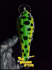 Green Fishing Lure Glass Pipe - Linework Tubing - The Banger Store