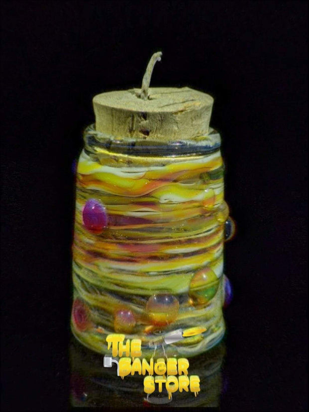 Hempwick Jar - Unicorn Milli - MessyGlass - The Banger Store