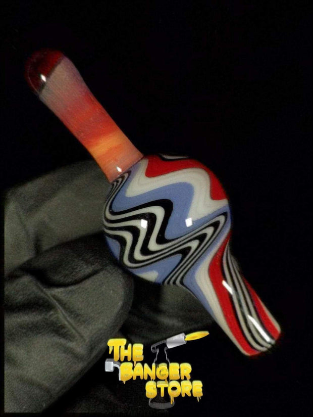 May Raffle Giveaway Prize #36 - K2GlassArt Wig Wag Bubble Cap - The Banger Store
