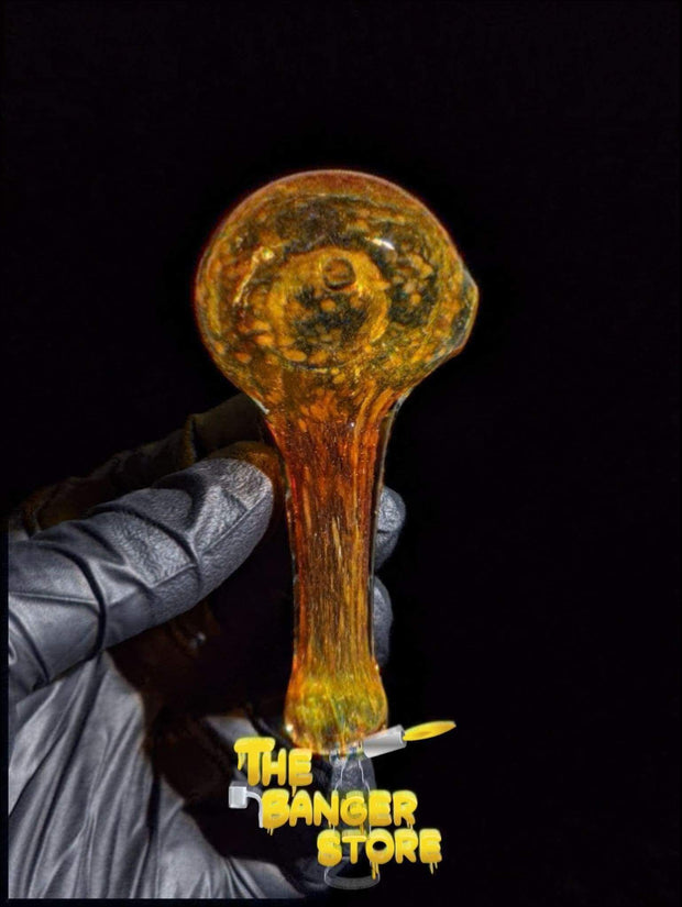 Orange Frit Glass Pipe - The Banger Store