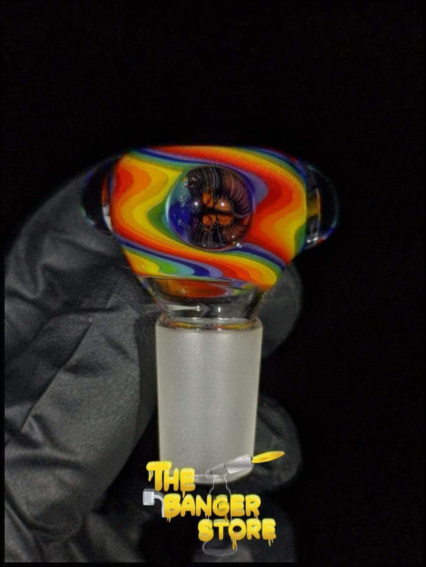 """Rainbow Unicorn"" Milli Flower Bowl Piece  - MessyGlass - The Banger Store"